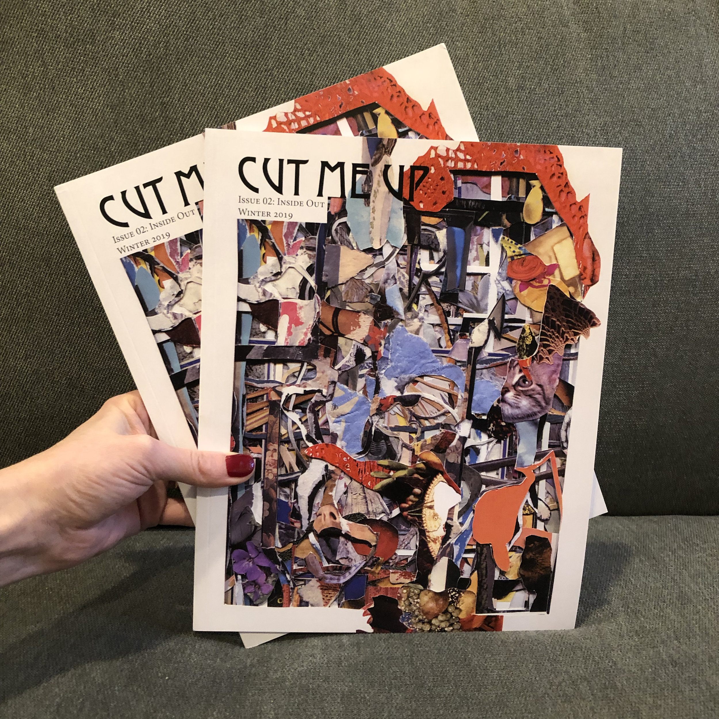 Cut Me Up Issue 2: Inside Out - Issue 2: Inside Out, was curated by myself and artist John Whitlock, featuring 19 original artworks selected from the responses to Issue 1. The featured artists unearthed layers of imagery and meaning from the works in Issue 1, transmuting and integrating these using personal iconographies and material processes.