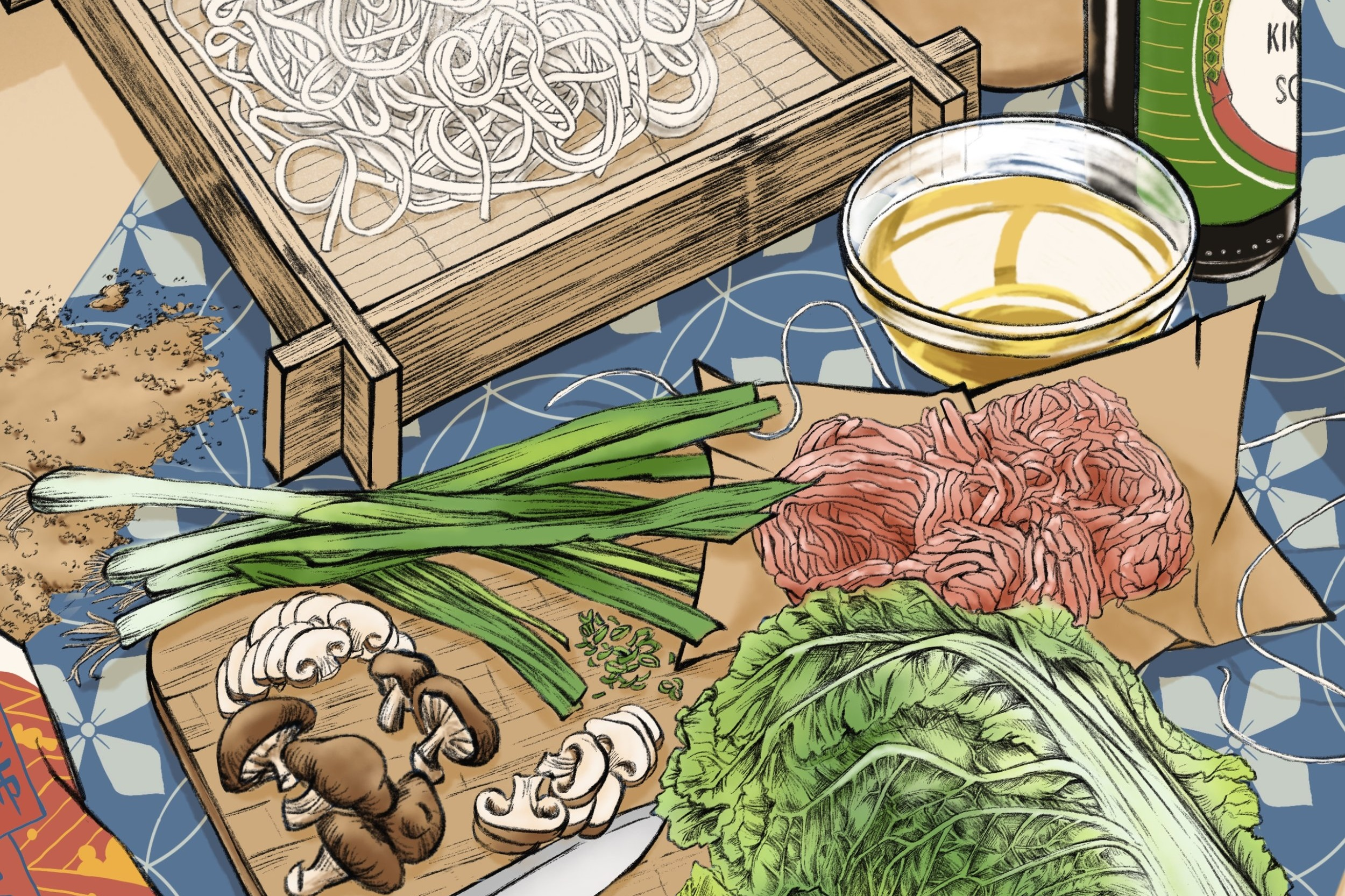 Japanese Soba Ingredients