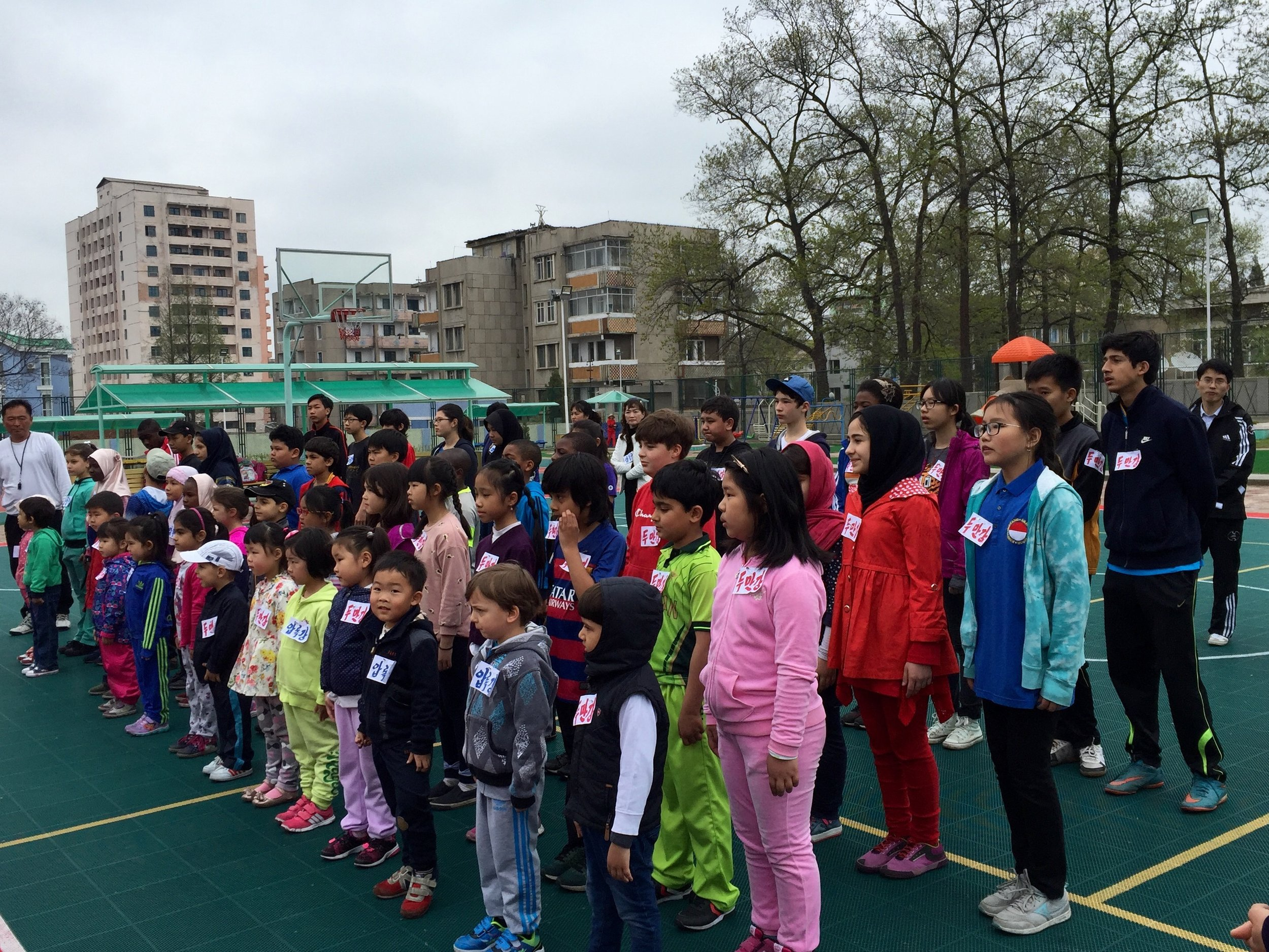 Sports Day at the Pyongyang Korean School for Foreigners