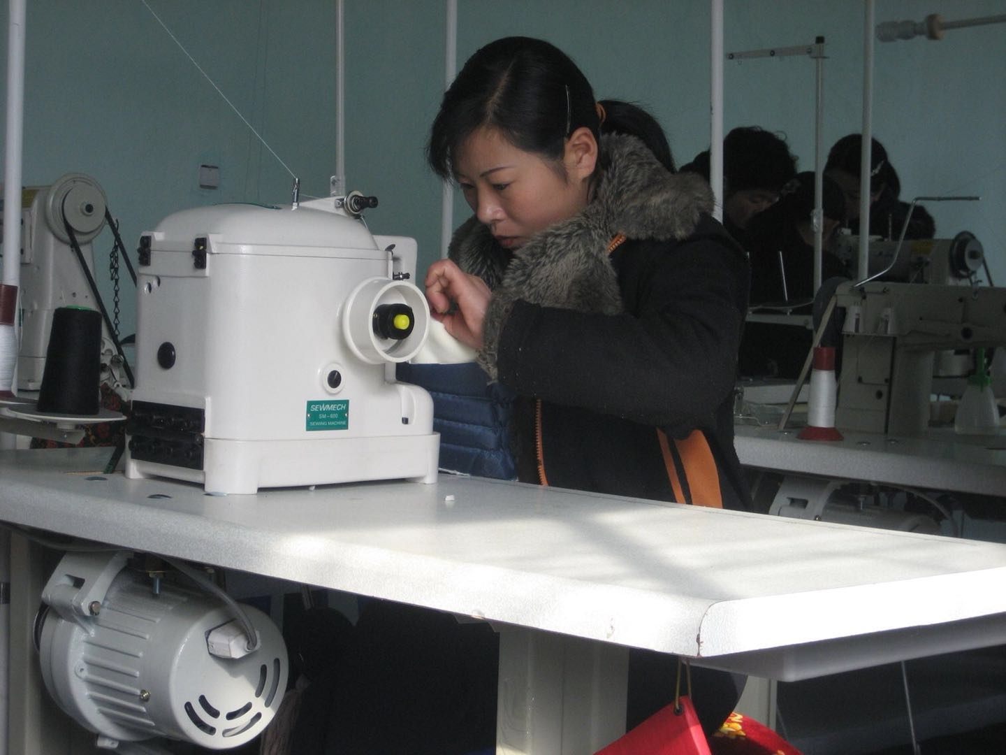 North Korean Woman Working in a Foreign-Owned Company in North Korea
