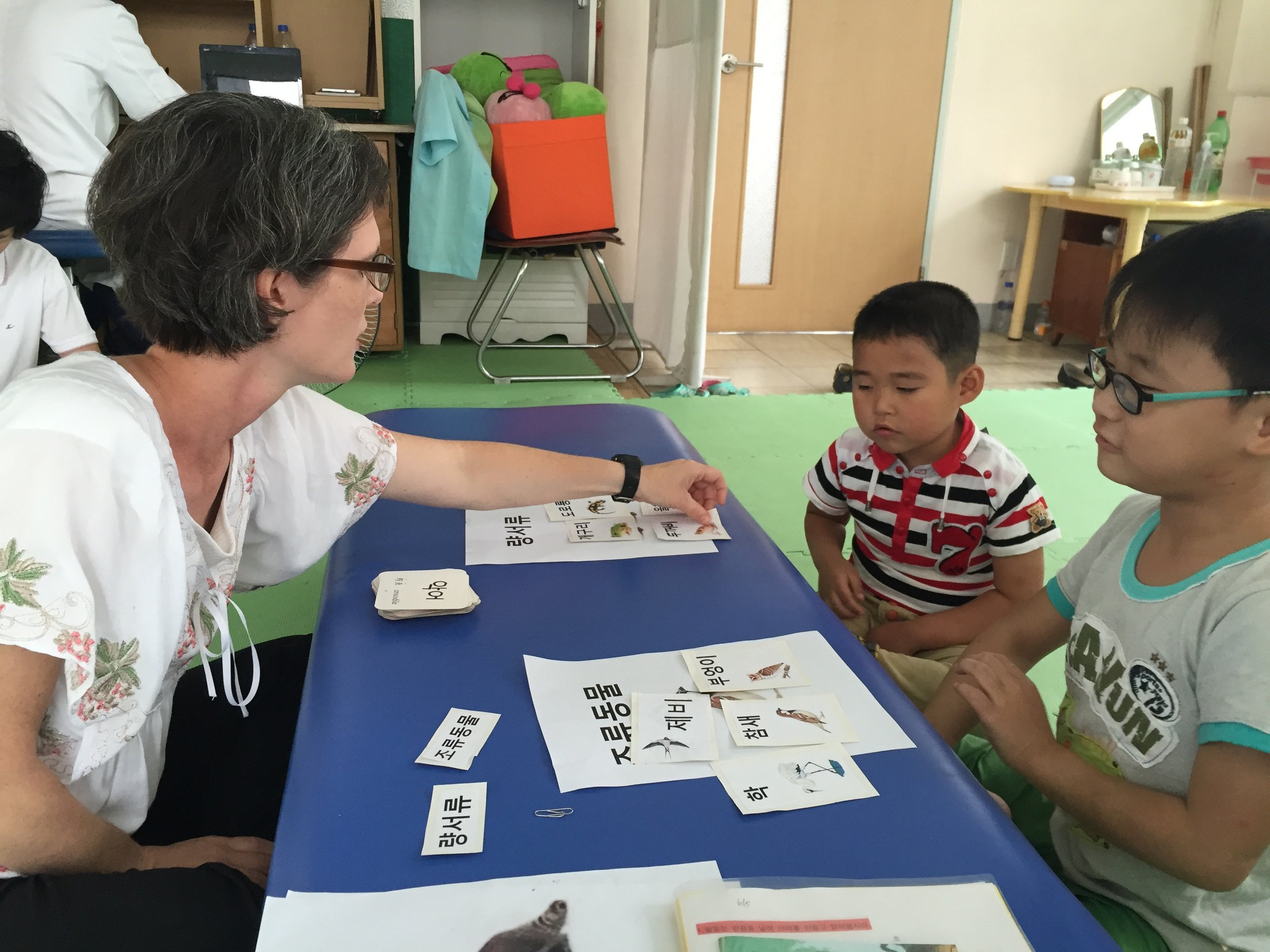 Teaching cognitive reasoning skills through a science lesson to North Korean children with cerebral palsy