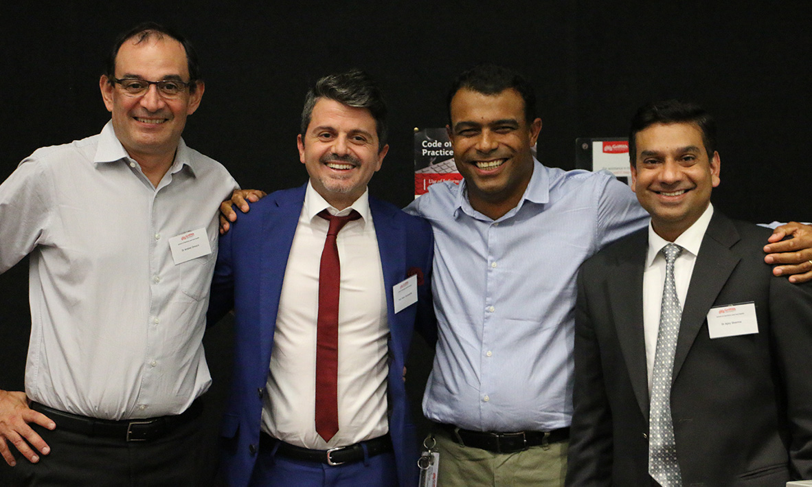 Professor Quaranta, and the other Speakers at the scientific event on the new classification system for the periodontal and peri-implant conditions and disease. Gold Coast.  Feb, 2019