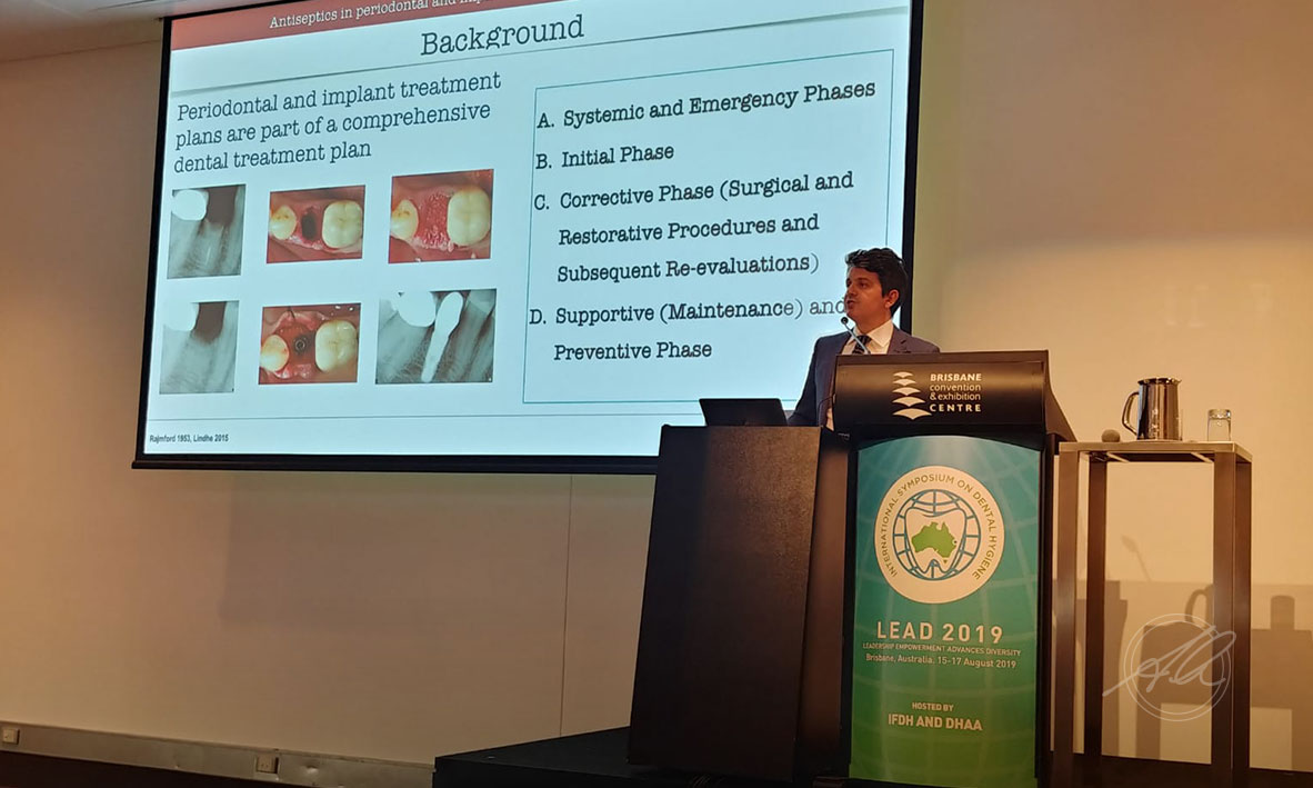 Prof Quaranta presenting at the 21ST IFDH International Symposium on Dental Hygiene, Brisbane