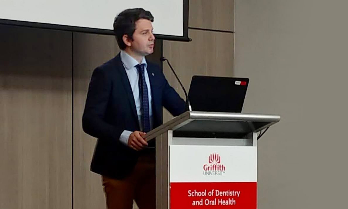 Prof Quaranta, invited keynote speaker at the DOH Griffith University Research Day