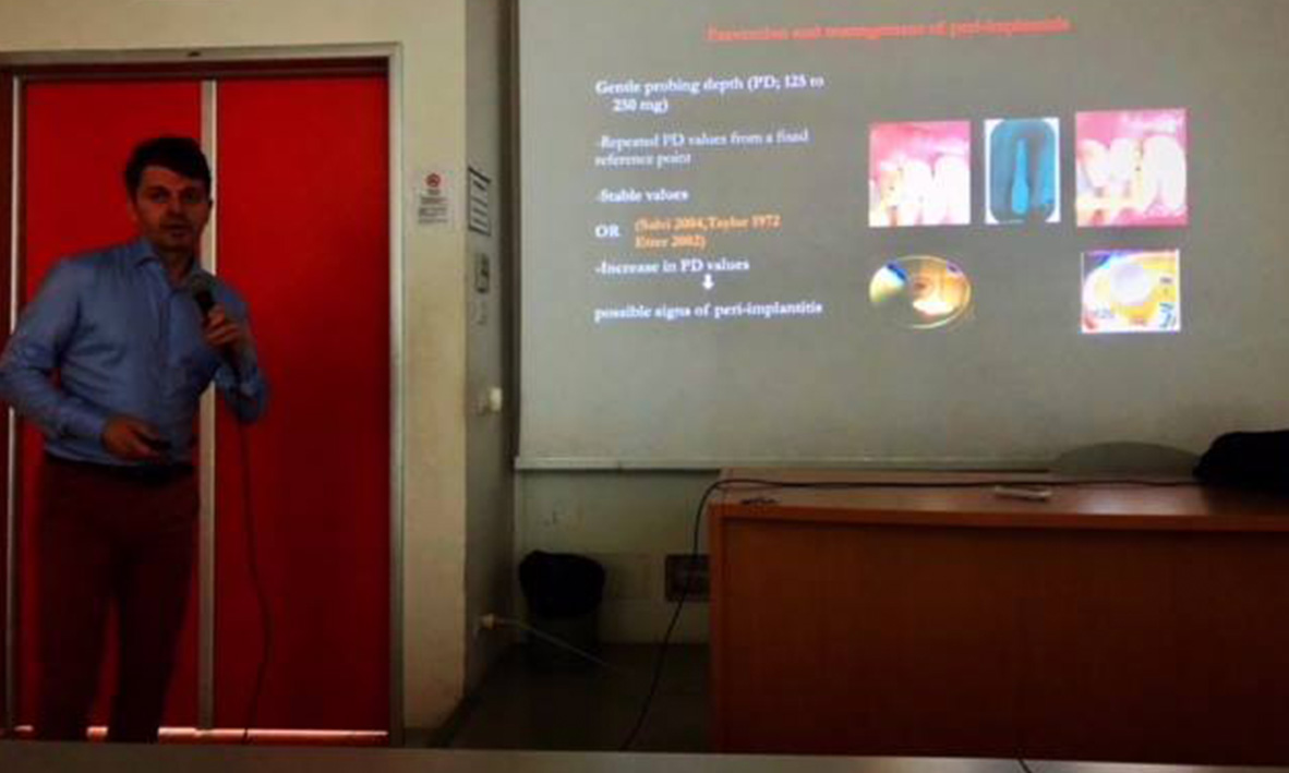 "Professor Quaranta, a notable alumnus of the University of Rome ""La Sapienza"" Italy, lecturing to the Postgraduate Students"