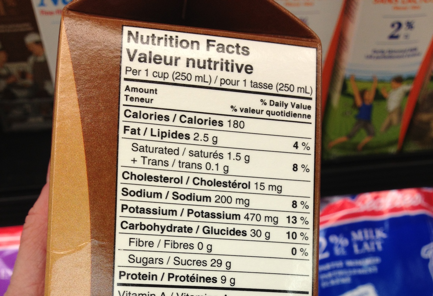 All commercially available packaged food in Australia must have nutritional information.