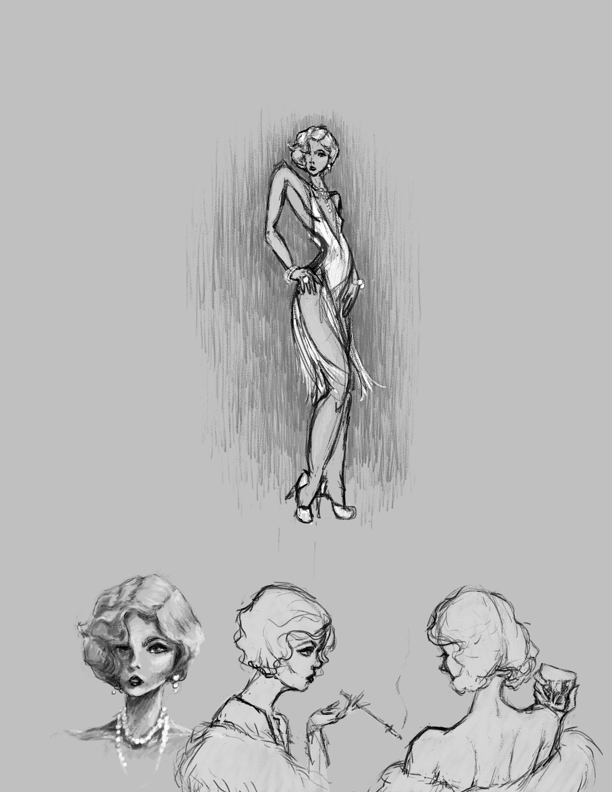 Silent Movie Star - Character Design