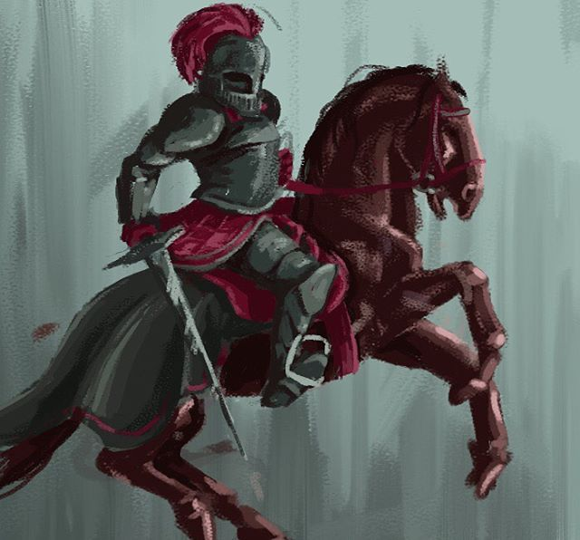 Knight concept 🐴 • • • #digitalart #digitalpainting #conceptart #characterart #characterdesign #knight #medieval #horsesintheback #horse #armor