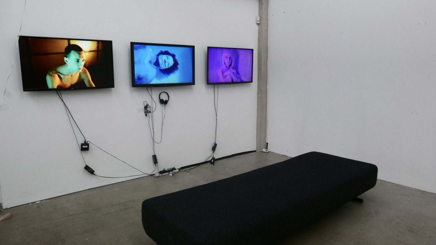 'The Eternals'  3 Screens with Headphone Sounds - Royal College of Art - Work In Progress 2018