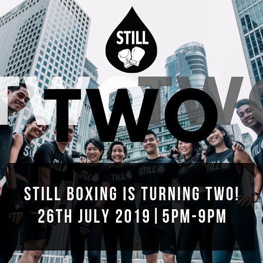 Celebrate our 2nd Anniversary this Friday with an action-packed evening from 5pm-9pm at OUE Downtown, #B1-06 . •Speed punch Challenge •Themed Classes •Exclusive one day package promo •Giveaways  DID WE MENTION LIVE DJ? 🙀 Can't wait to see you guys in class! 🥊 . #STILLboxingsg • • • #singapore #OUEdowntown #STILLgroup #boxing #boxingfitness #cardioboxing #boxingresults #gloves #sweat #cardio #training #boxinggym #fitness #rnb #hiitworkout #boxingring #martialarts #cardio #sport #bodybuilding #karate #health #judo #boxer #fitspo #hardwork #champion #lifestyle