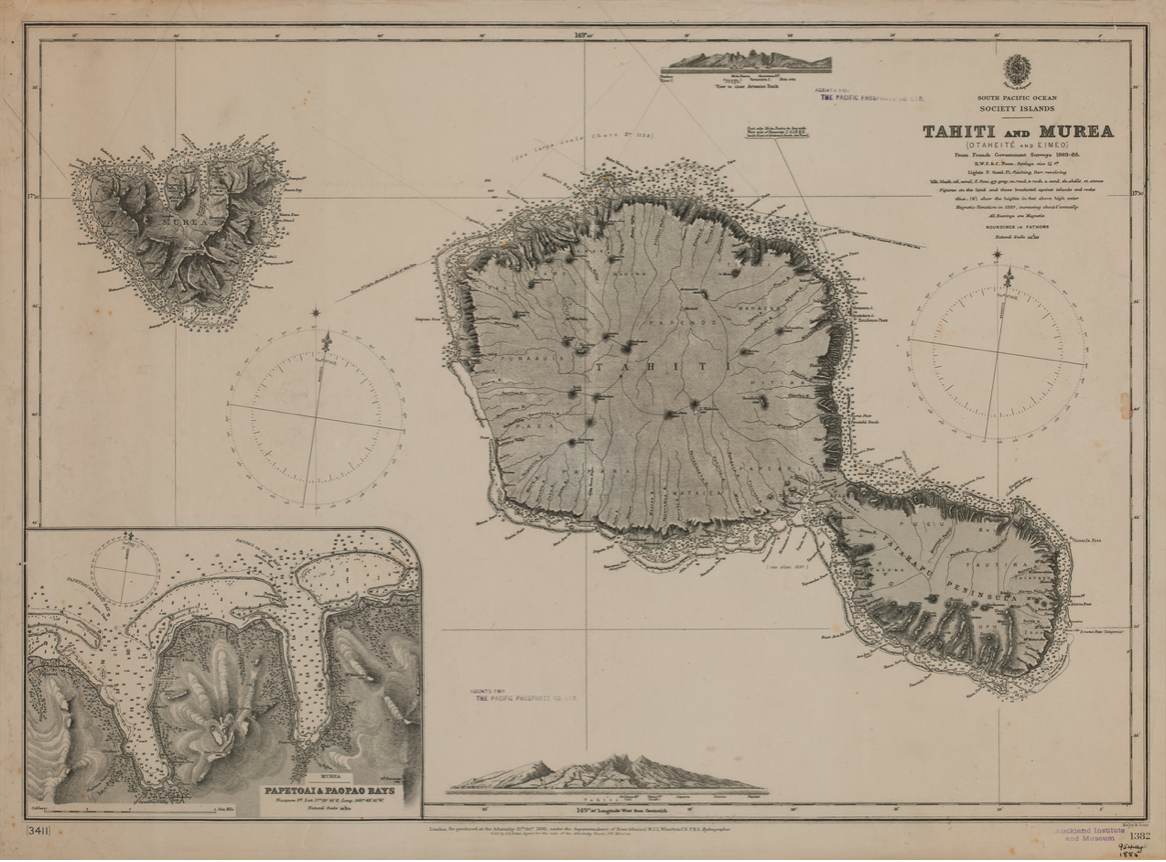 A nineteenth century British map of Tahiti