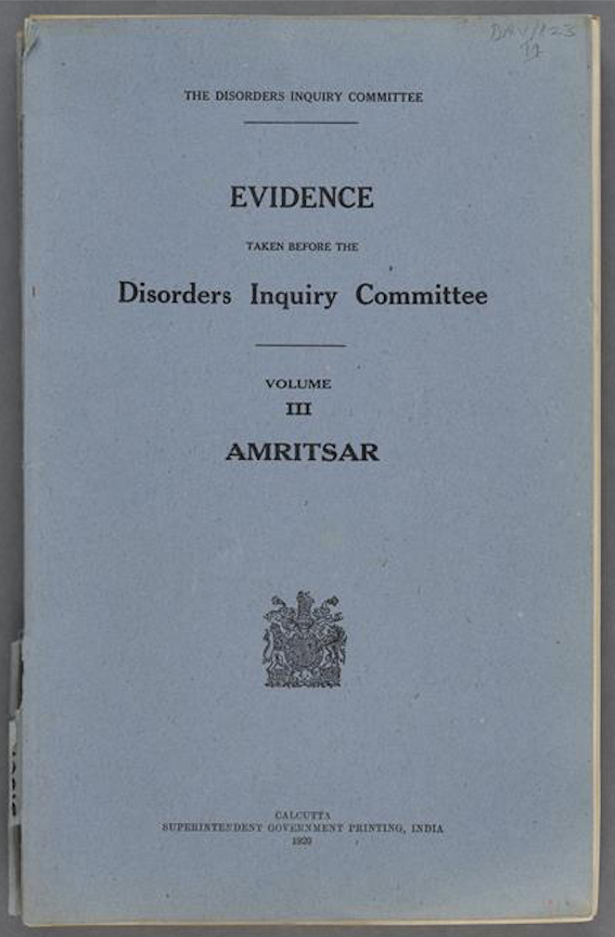 Hunter Committee testimony published 1920