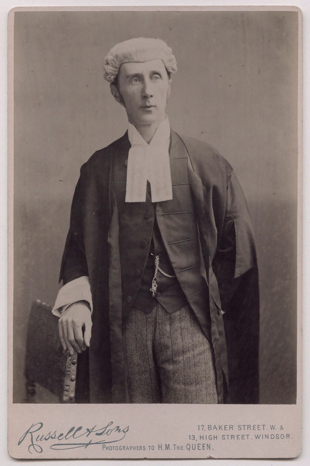 Sir Henry Fielding Dickens, Common Serjeant, pictured in the 1890s