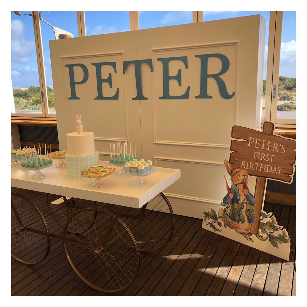 The Stylist's Guide Adelaide - Peter Rabbit Birthday Party - First Birthday - Adelaide Event Styling