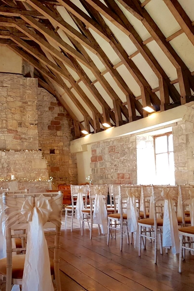 The Upper East Range - Featuring a scissor braced roof, fascinating chimney stack and ancient stonework, the east range is perfect for smaller gatherings. Whether it be an intimate wedding, private dining with your closest family and friends or a corporate meeting, we can accommodate up to 80 people in a theatre layout or 50 seated guests.