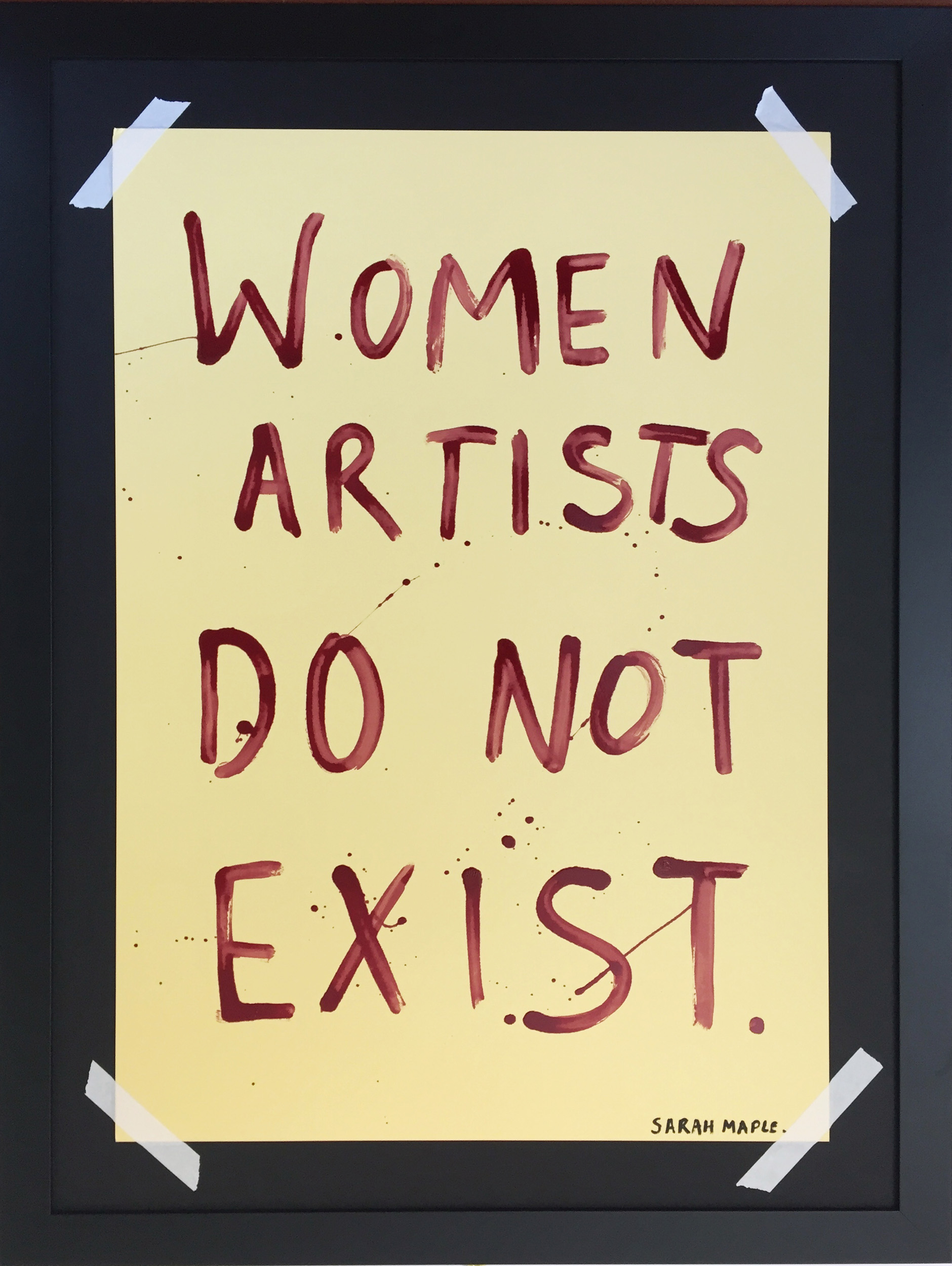 Women Artist Do Not Exist, 2019