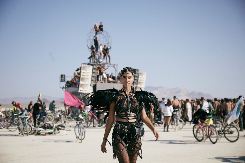 The community of Burning Man | Image Credits:  Karim Tabar