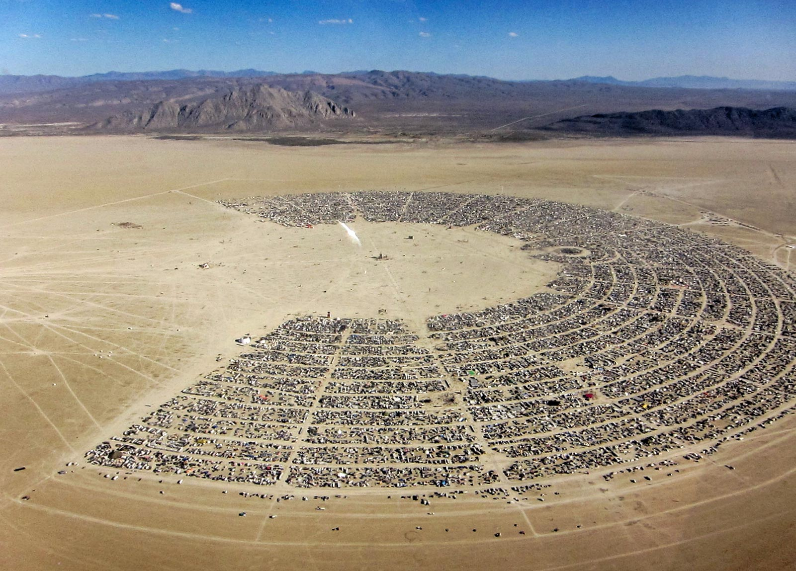 Arial view of Burning Man | Image Credits: Burning Man