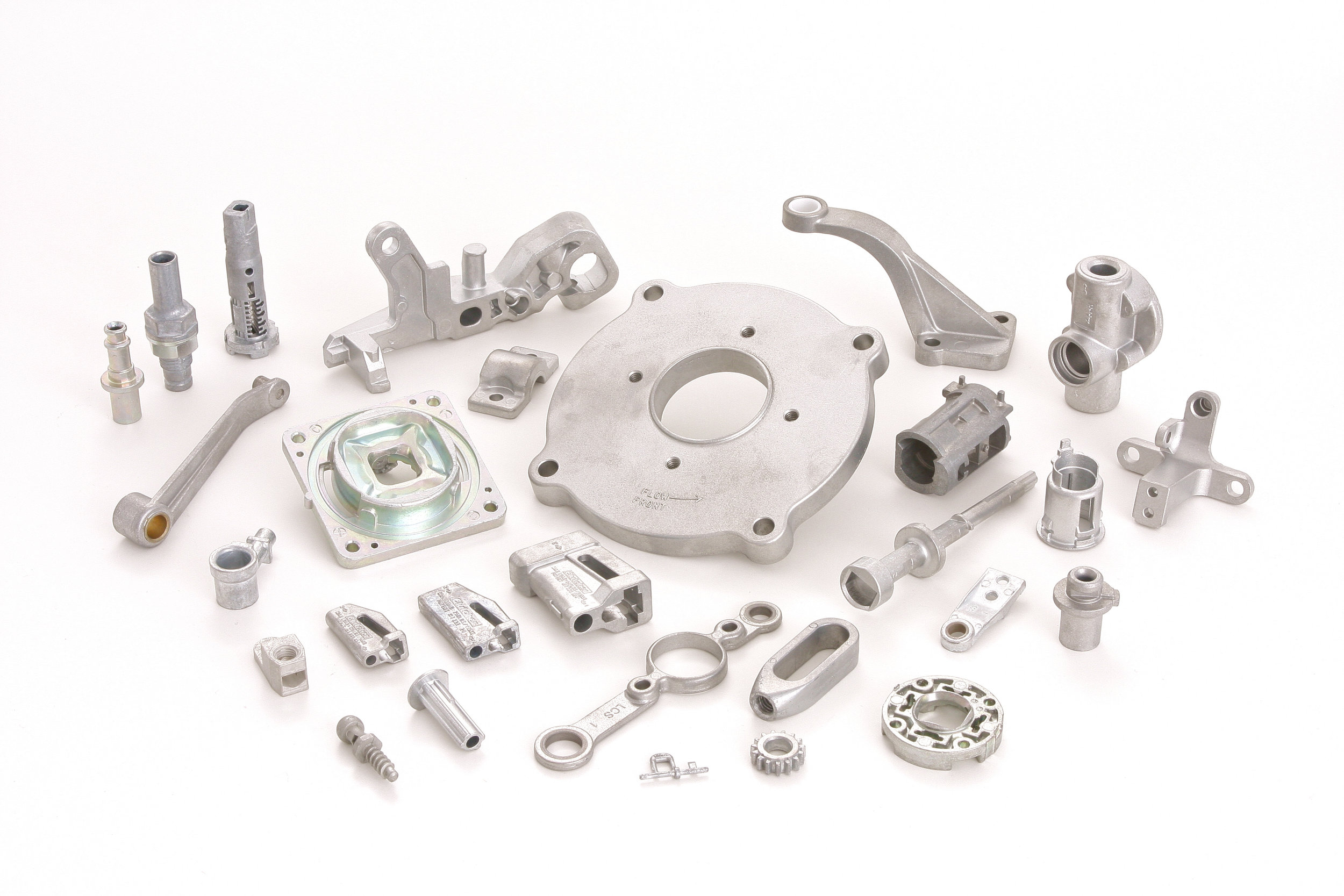 Zinc Castings vs forging - Zinc die castings produce more complex shapes with closer tolerances, thinner walls, and lower finishing costs. Cast core holes are not available with forging.