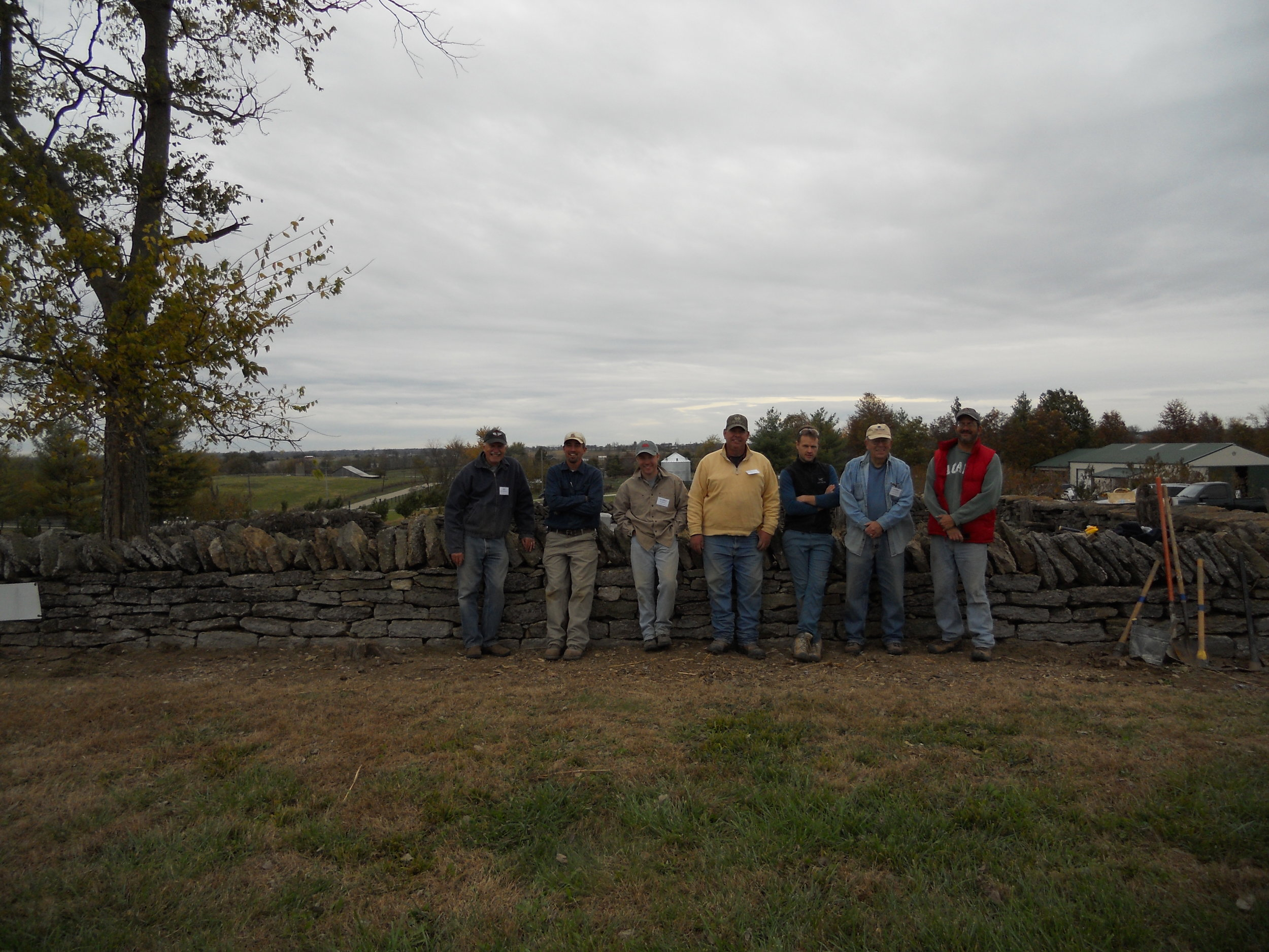 Volunteer Workday, Byrd-Hanna Cemetery, Shelby County, Kentucky 2015 -