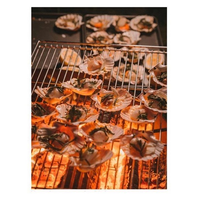 Our wood fired Mylor Scallops with foraged seaweed butter looking 👌🏼🔥🚒🌿🗺 . . 📷@beasquire  #igoadventures #pompier #pompierbarbeque #woodfired #foodfireadventure #wildcooking #adventure