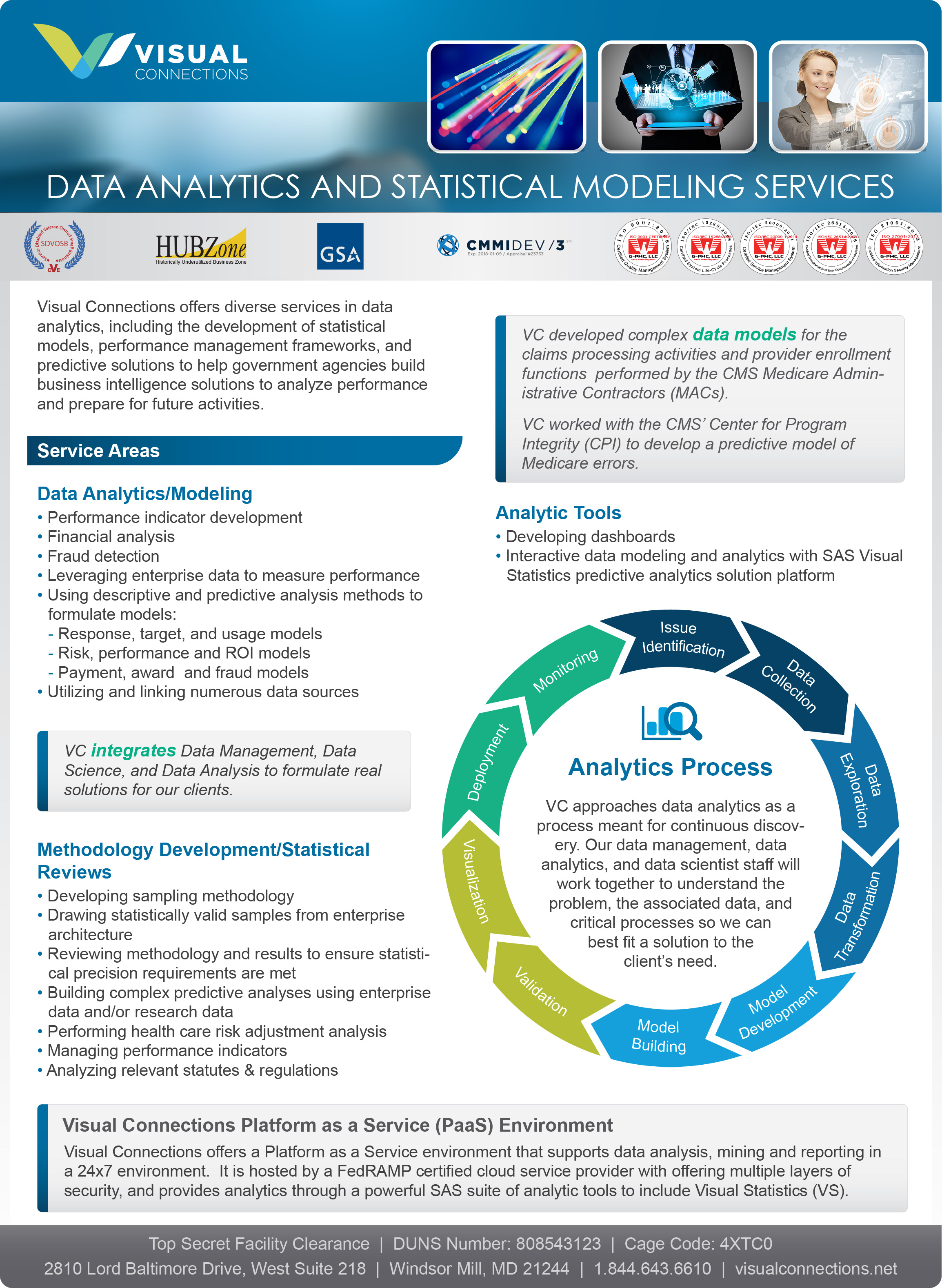 DATA ANALYTICS AND STATISTICAL MODELING SERVICES -