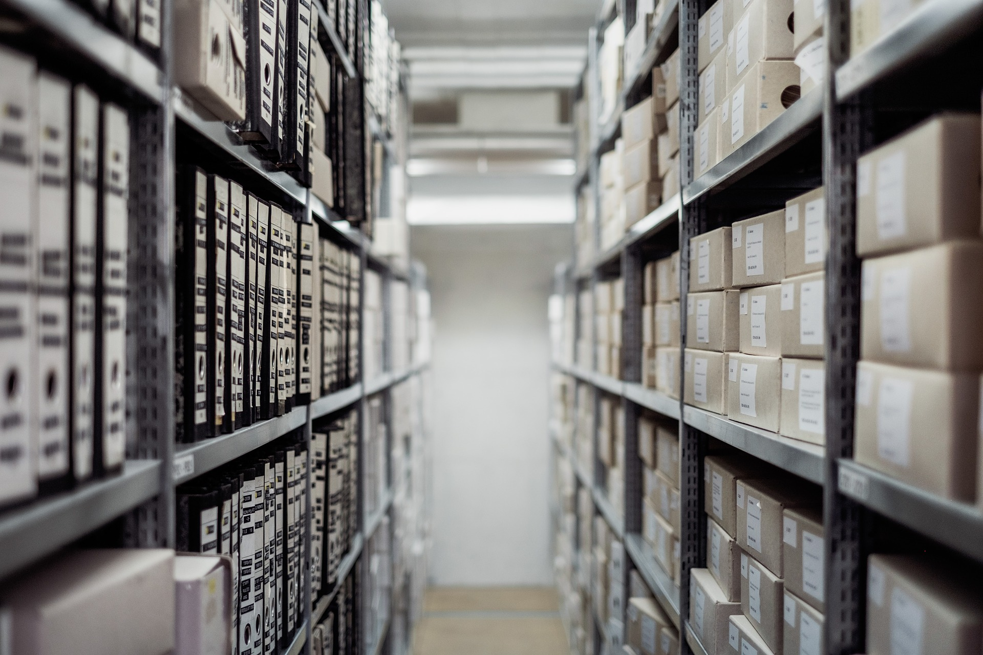 Room full of medical record and files