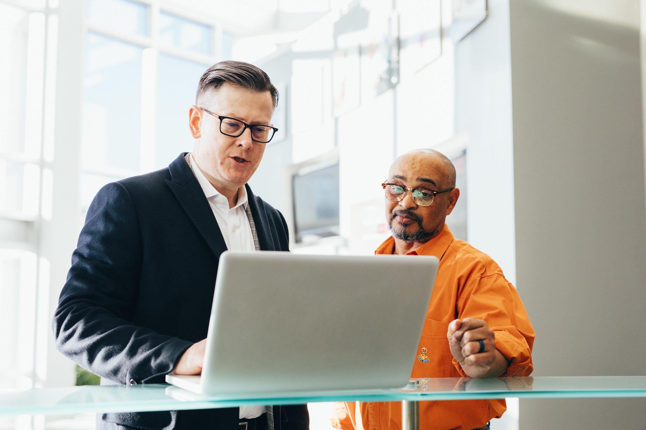 Businessmen Discussing Process