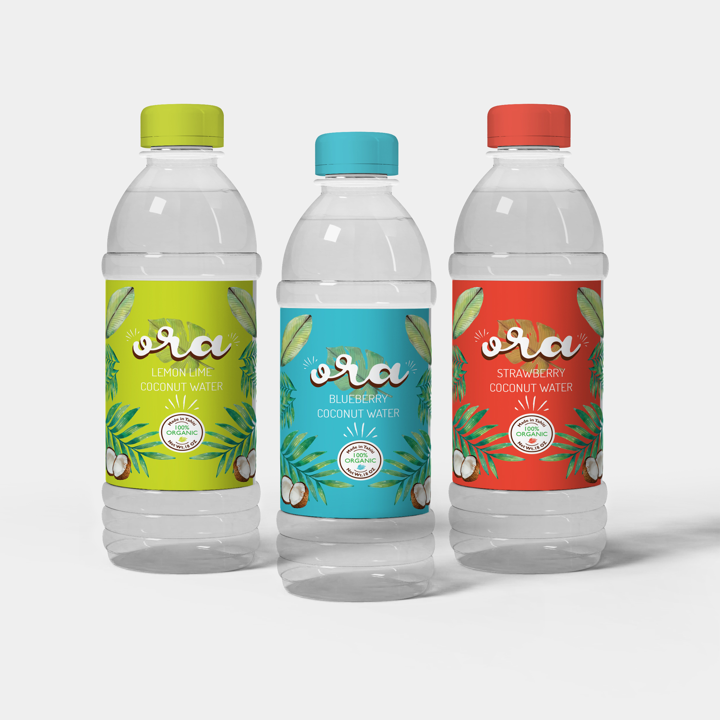 Ora Coconut Water - Ora Coconut Water is a brand of coconut water made in Tahiti and inspired by Tahitian culture. The word Ora means to be alive in Tahitian and this coconut water is designed to feel clean and fresh to symbolize good healthiness. Using a collage style of design, enhances the freshness of the product and makes it more appetizing.