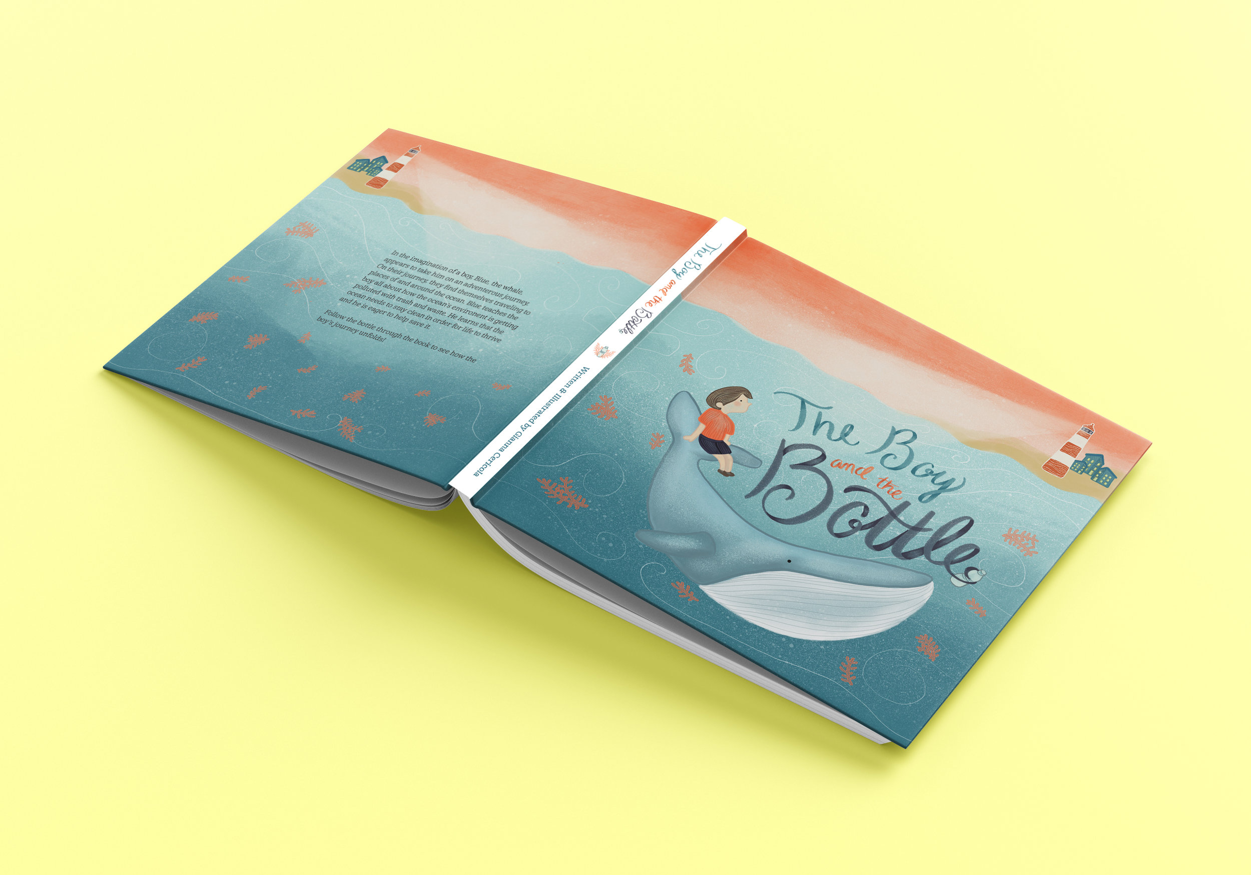 Solution - Illustrating and writing a children's book that informs kids about how to protect the ocean and environment.