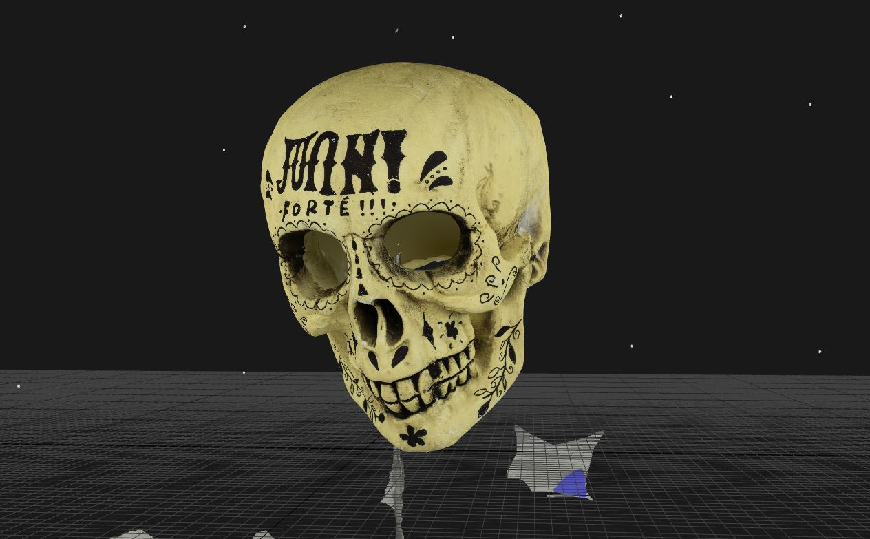 3D scan with texture