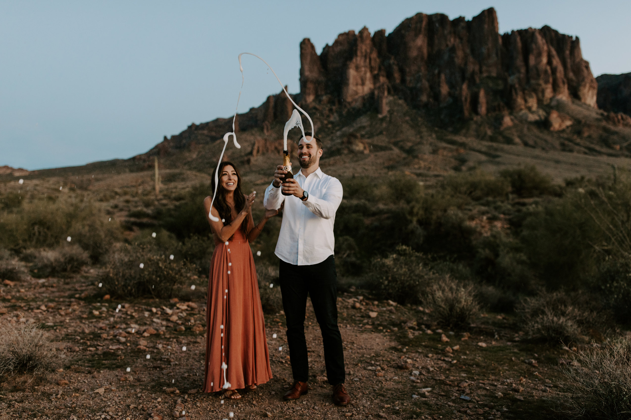 James and Kayla - Superstition Mountains