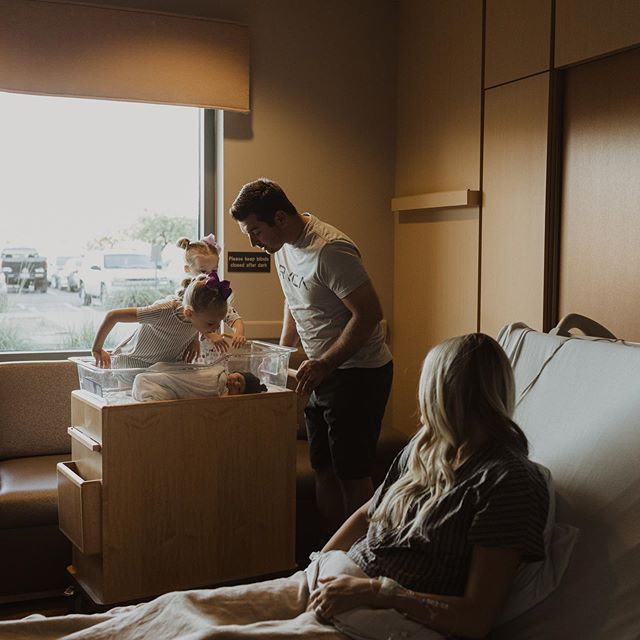 Not my typical post but I love these photos so I'm sharing them. A couple years ago I was at the hospital several times a week documenting families as they welcomed a new baby into the world and I miss it a lot sometimes. Because we're gone so much I'm just not flexible enough to do them really but It was refreshing to do a birth story again and see the sweetest reactions from these big sisters when they met their new brother. I was there for their second baby's birth and now their third and it gave me all the feels. Now that we are done having kids it's so weird to think that we won't have anymore babies in our home but it's an honor to document the moment for another family.