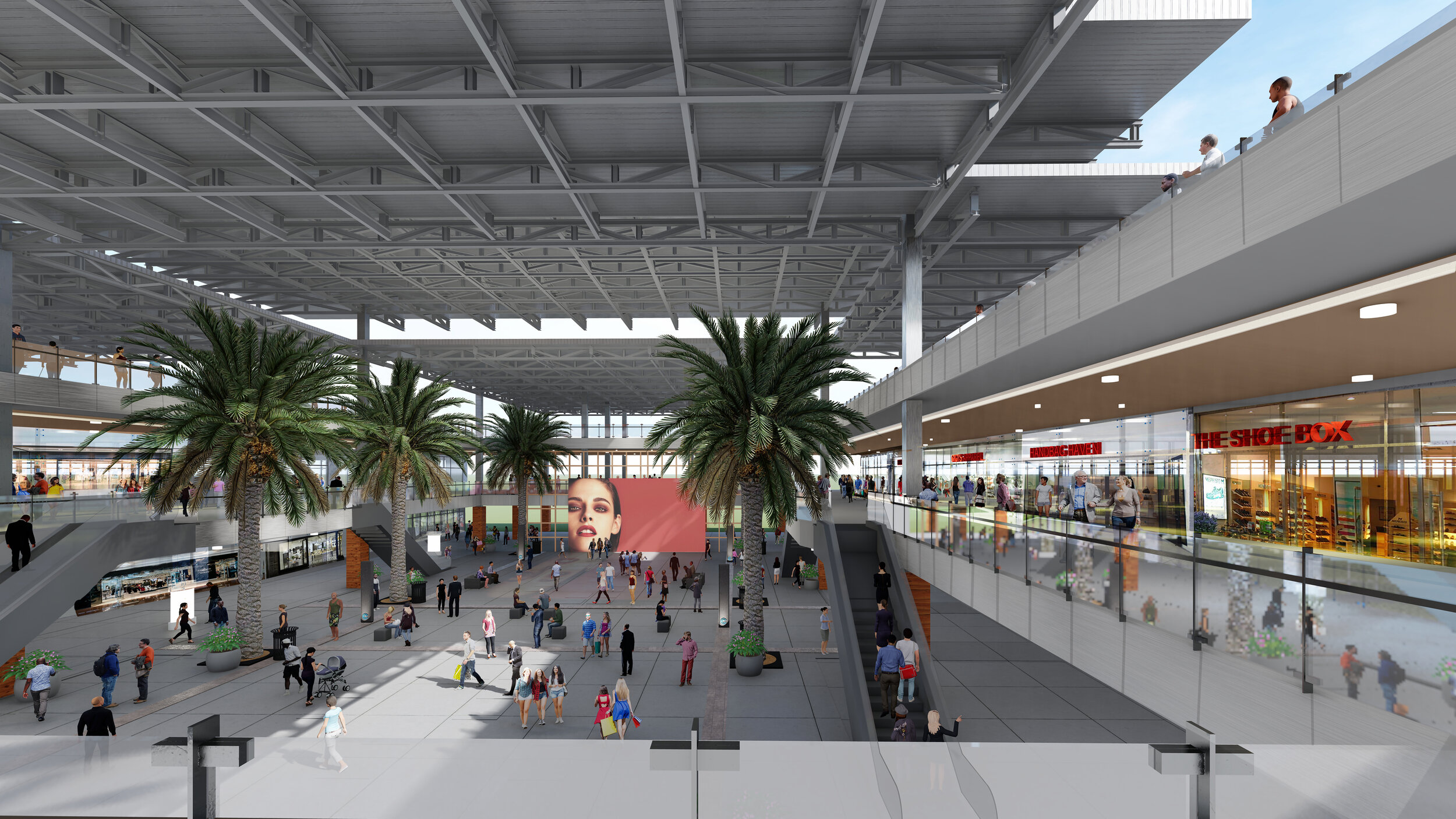Retail - The development plan for retail features approximately 300,000 square feet for both indoor and outdoor shops.