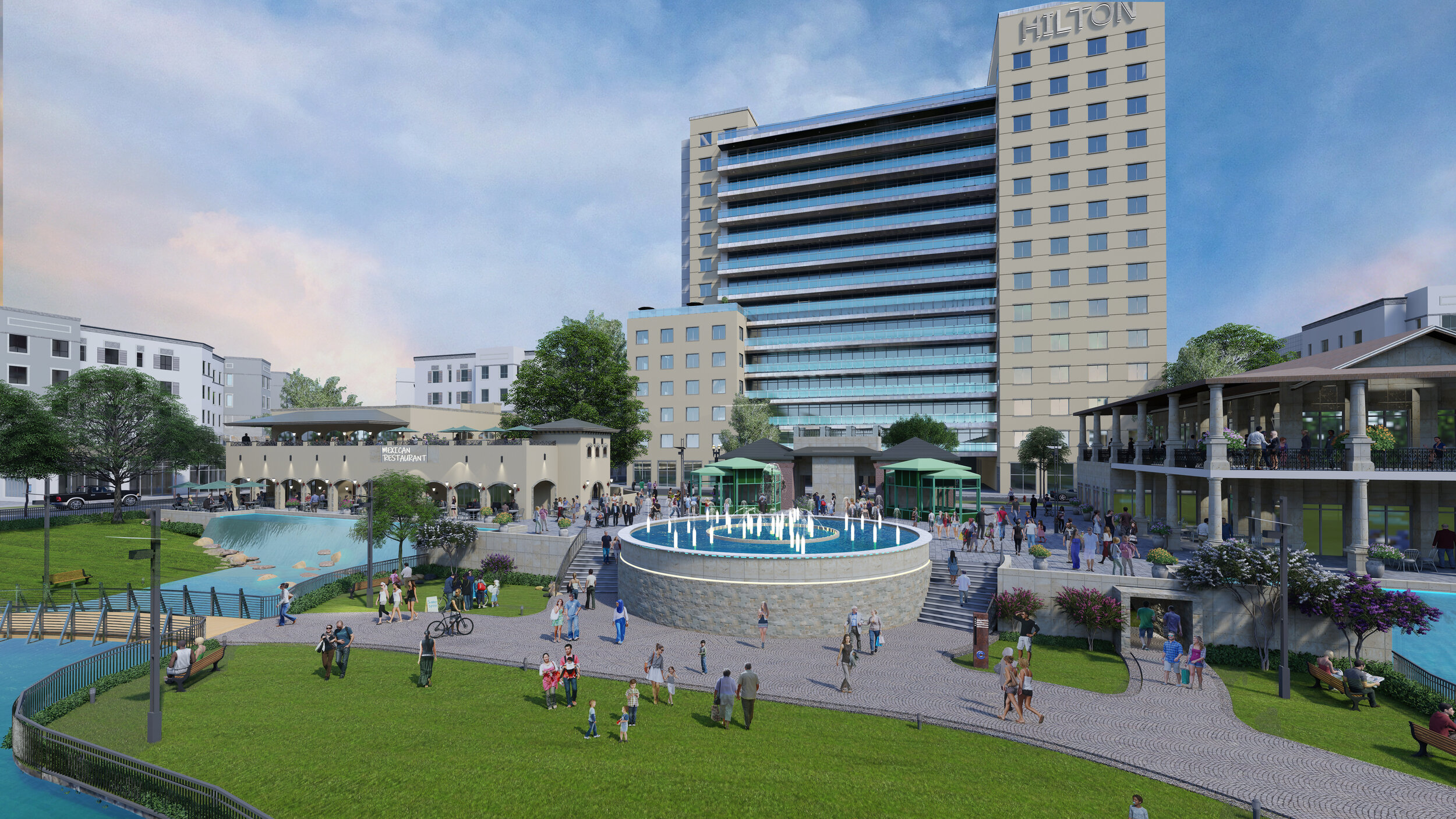 Hospitality - The development plan includes a hotel with approximately 40,000 square feet of event space along with 200 guest rooms. There will also be 40,000 square feet designated to various restaurants.
