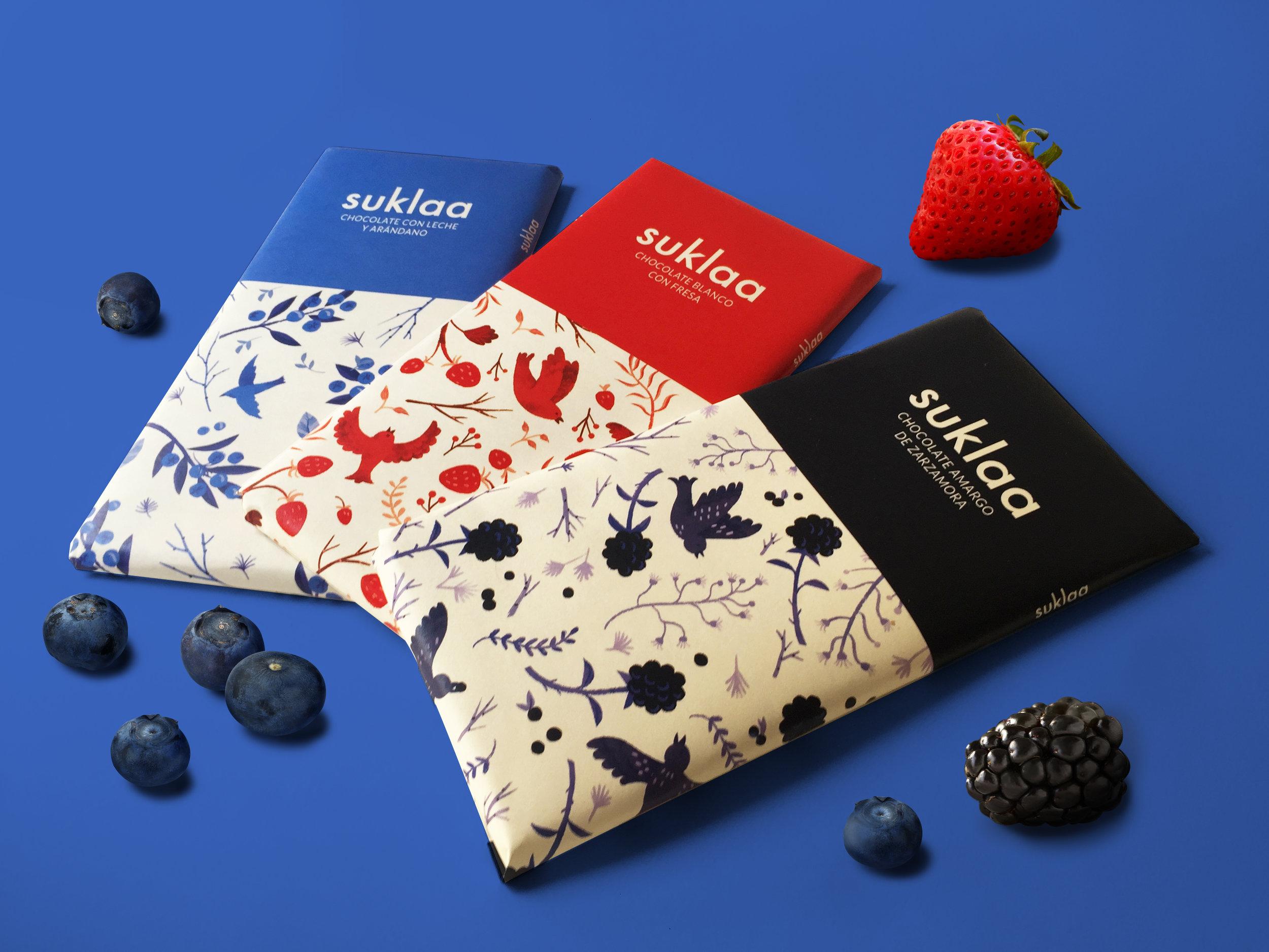 Product design & pattern illustration. Suklaa chocolate bars. / 2019