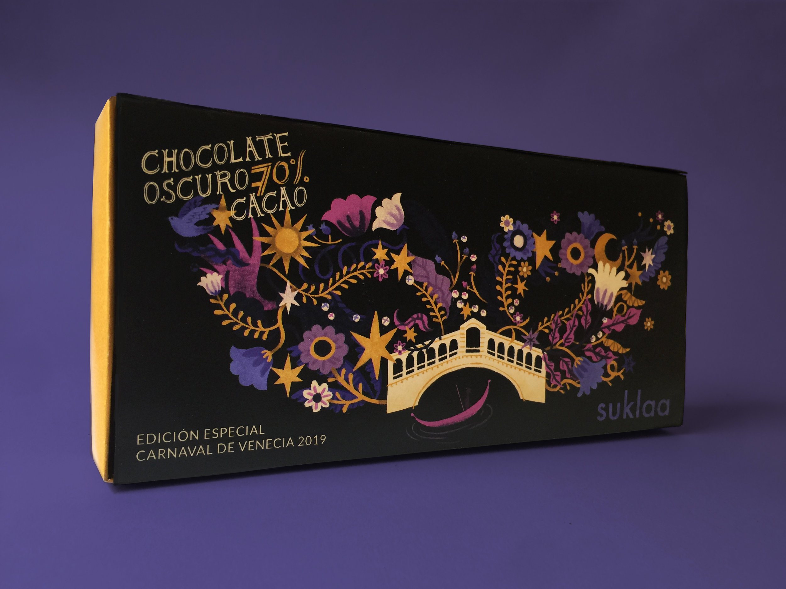 Product design and illustration for Suklaa Chocolate, Venice Carnival limited edition / 2019
