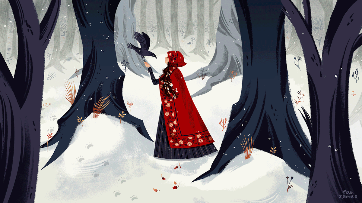Little red riding hood commission.  photoshop / 2018