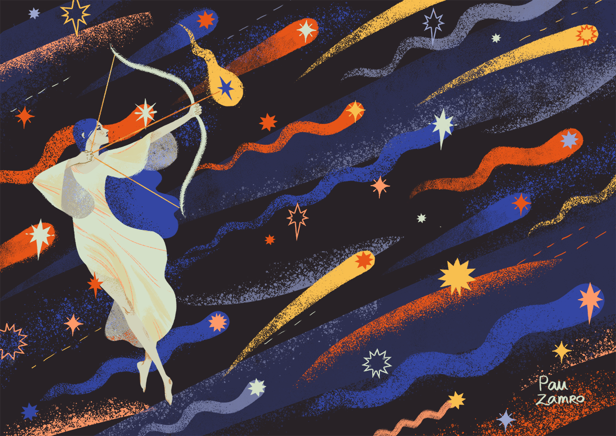 My piece for a space themed llustration anthology with my classmates from UPV's Design and Illustration Master course.