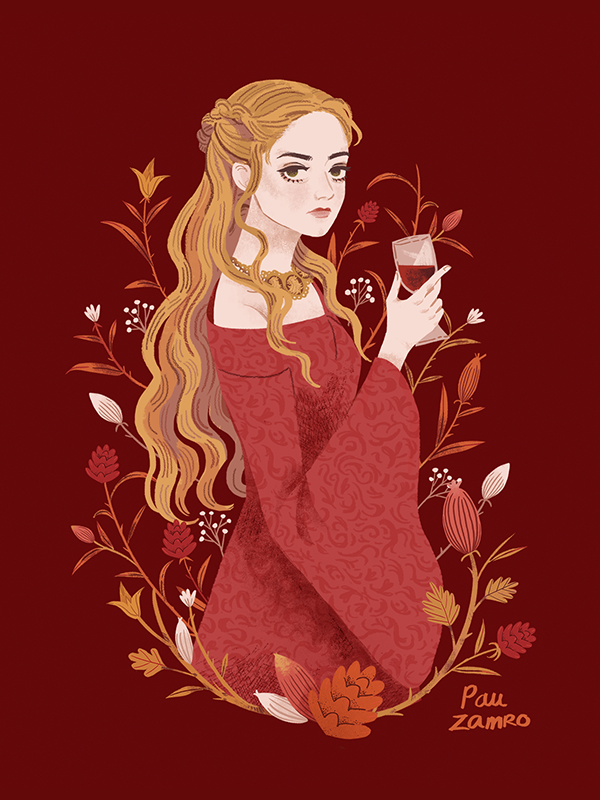 Illustrated portraits of Game of Thrones characters. photoshop / 2017