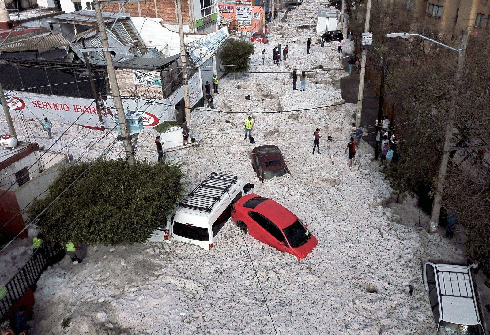 ARTICLE: Freak Summer Hailstorm Hits Mexico's Guadalajara