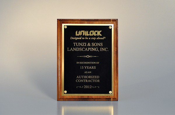 Unilock award for top quality landscaping in Peotone, IL