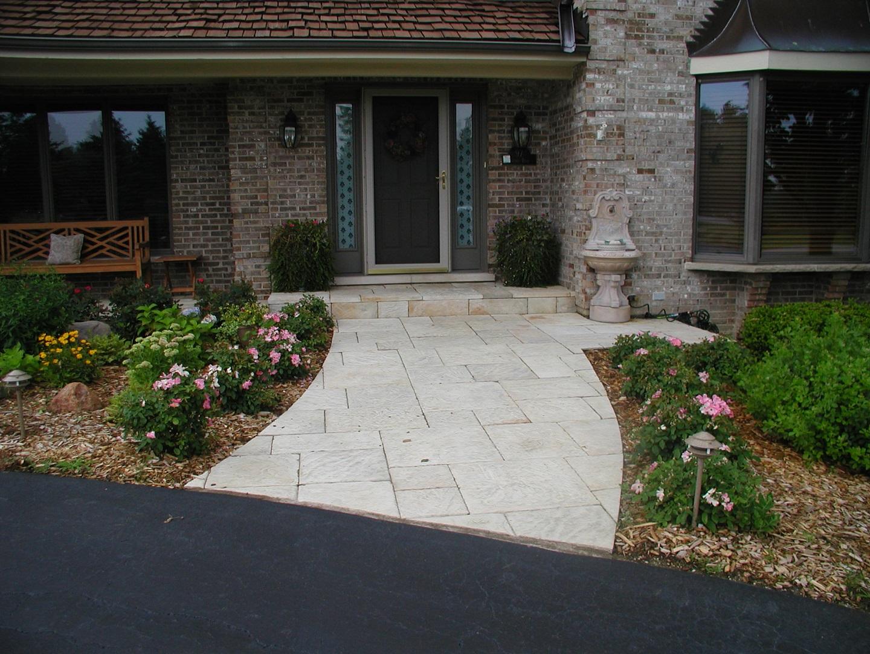 Walkway - brick paving in Peotone, Illinois