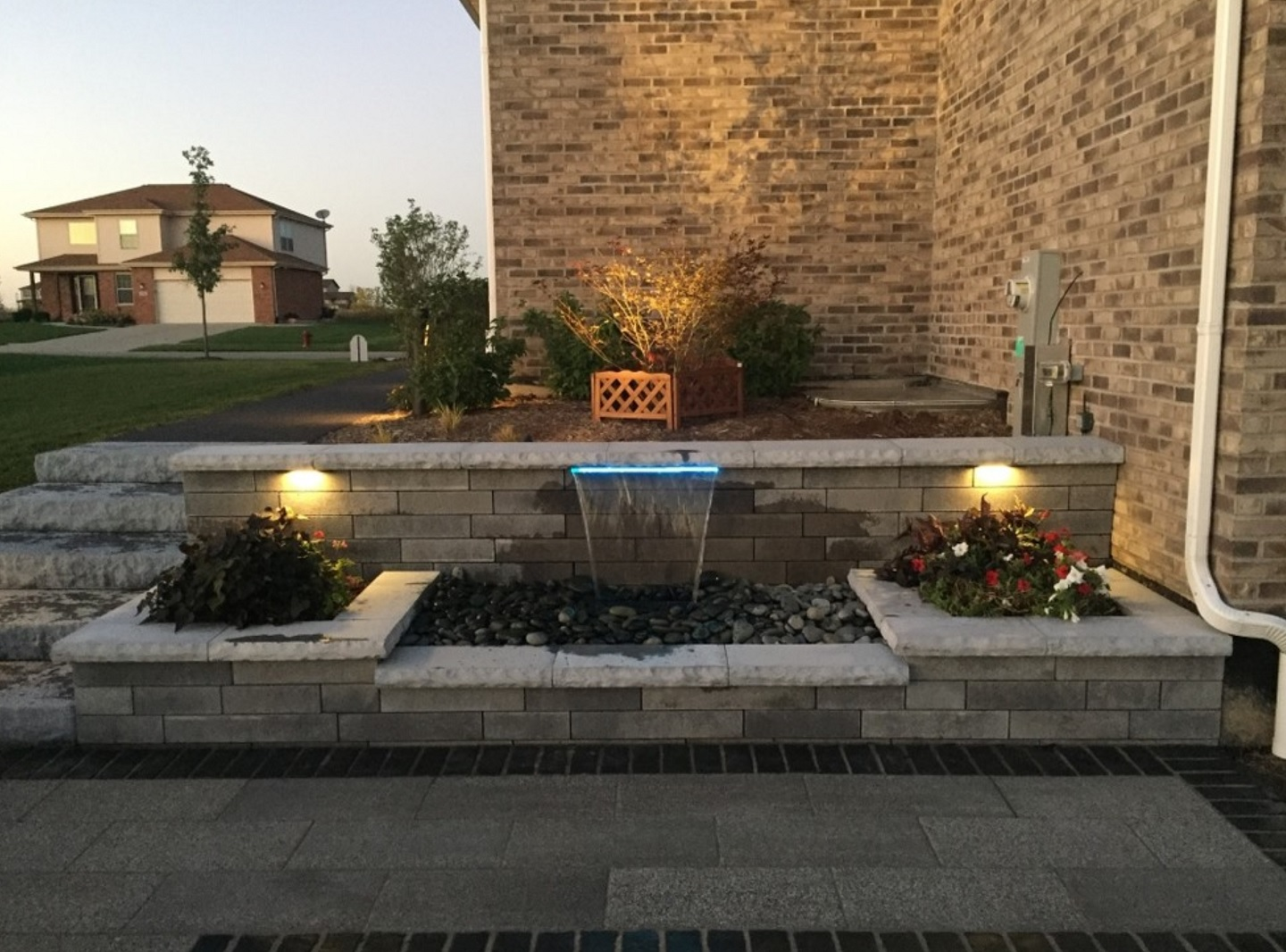 Water features and landscape lighting in Peotone, IL