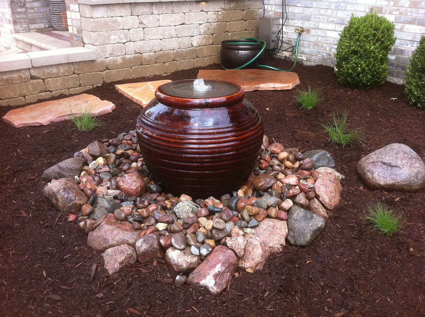 Beautiful landscape design with water features in Peotone, IL
