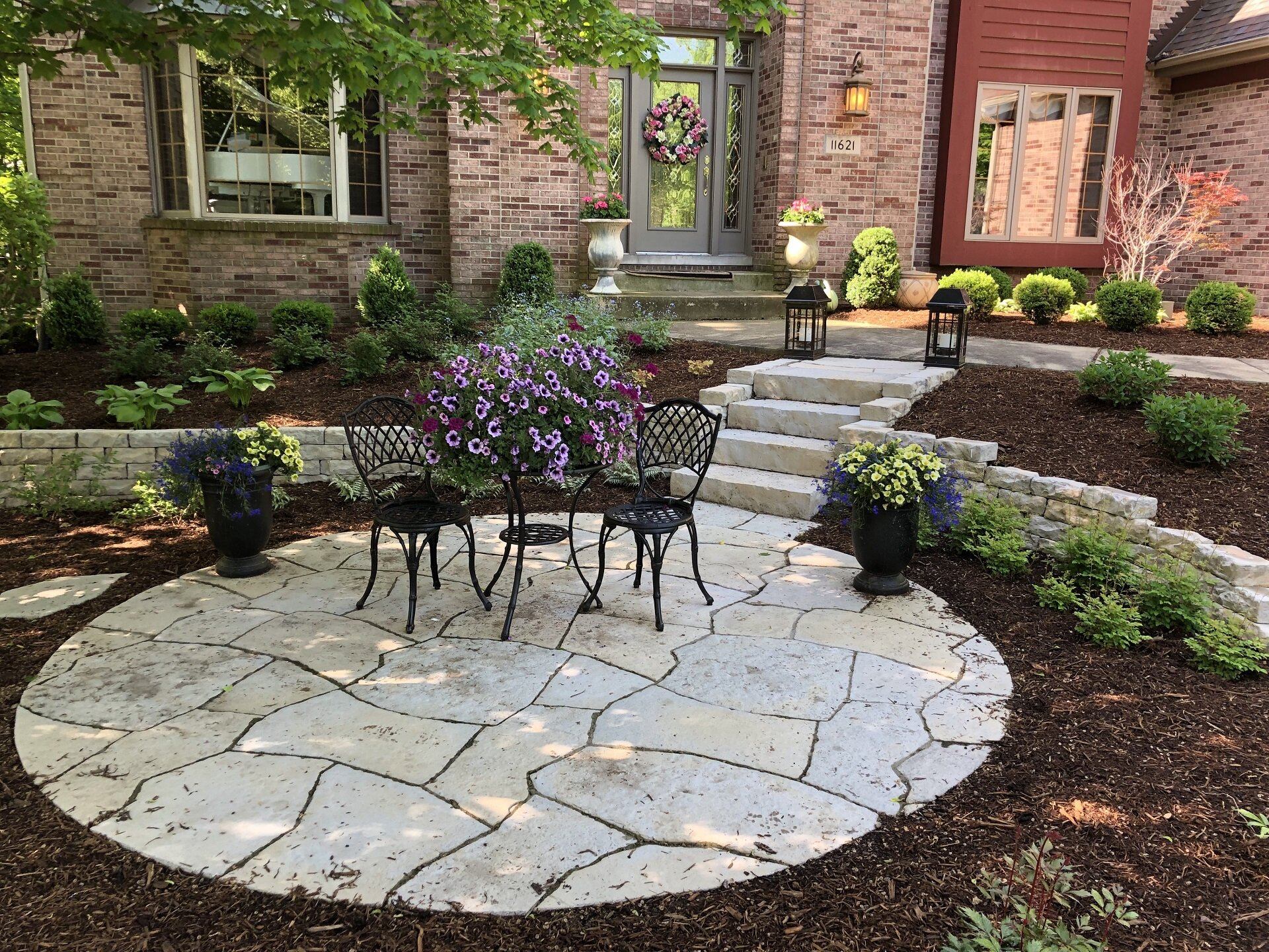 Landscape Design Outdoor Lighting Lawn Care New Lenox Il Tunzi Sons Landscaping