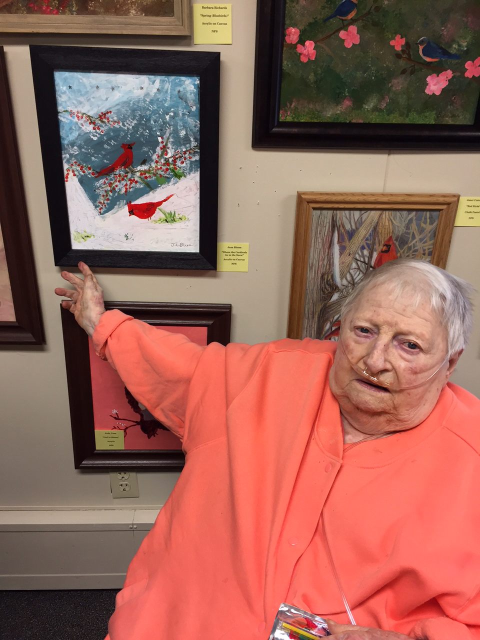 Jean Bloom with her painting.jpg