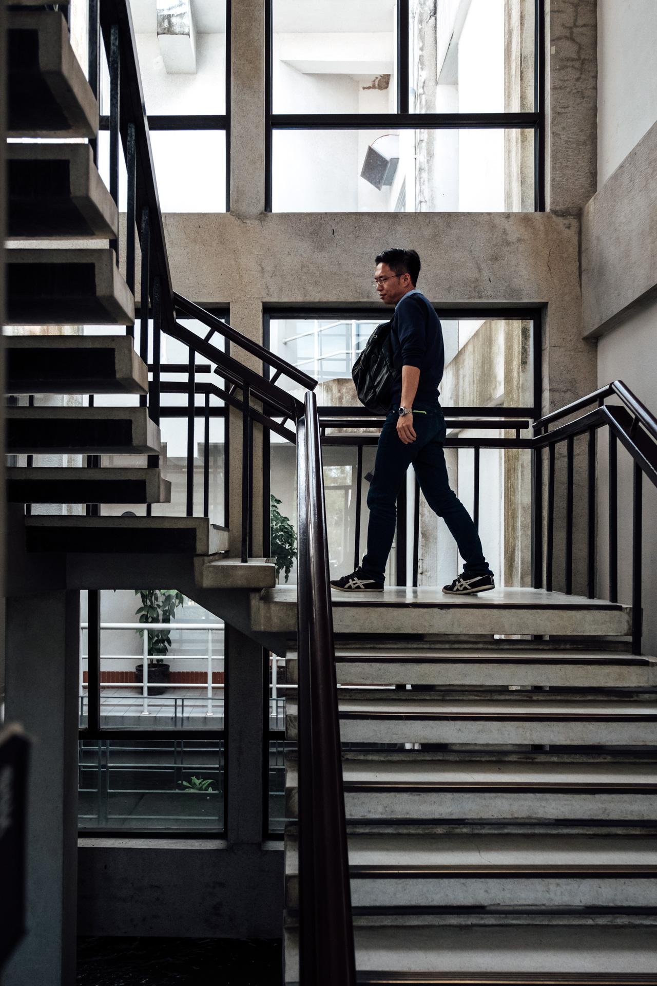 - 鄭成功歷史文物館 – Staircase inside Koxinga Museum