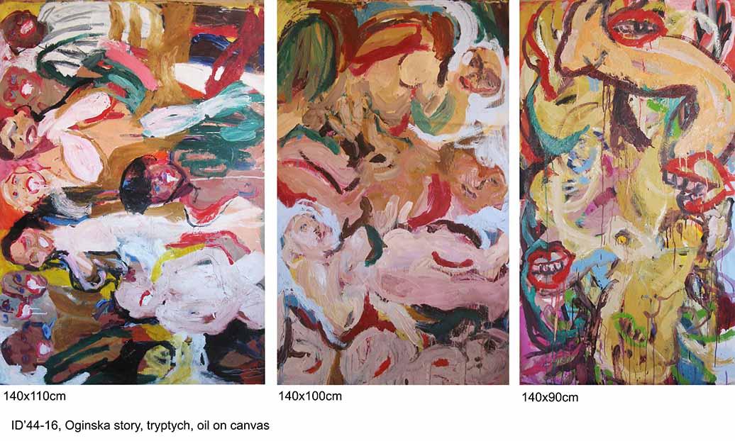 Oginska's story, 140x300cm, oil on canvas, 2016-18