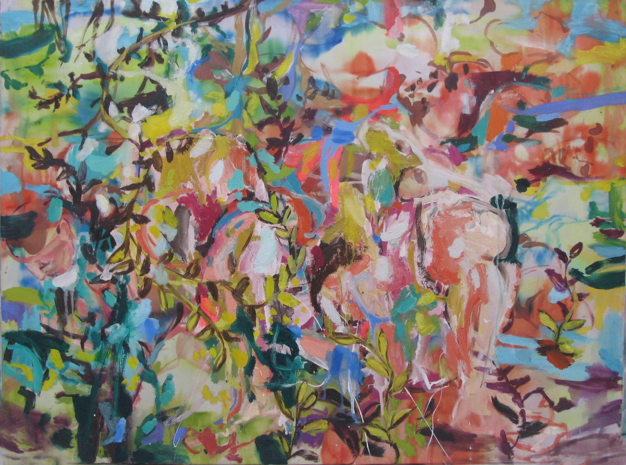 ID Life Tapestries No 3, 120x90cm, mixed media on silk, 2018
